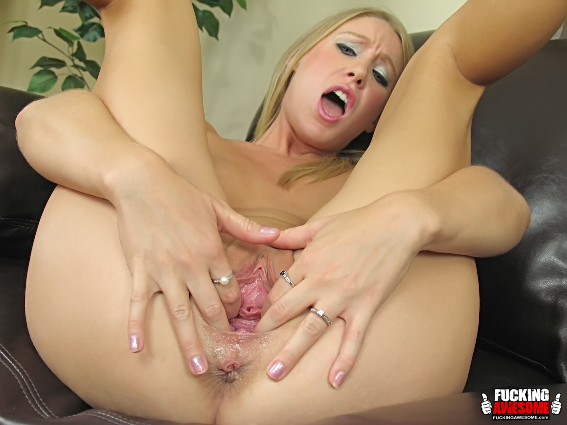 Allison pierce with a big toy in the kitchen 3